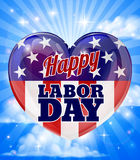 Labor Day American Flag Heart Royalty Free Stock Images