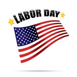 Labor day american vector Royalty Free Stock Photography
