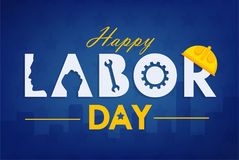 Labor day background design vector template graphic Royalty Free Stock Image