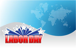 Labor day background sign illustration Stock Photos