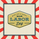 Labor day badge. international workers day vector Illustration. Labor day badge. international workers day greeting card. vector Illustration Stock Image