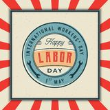 Labor day badge. international workers day vector Illustration. Labor day badge. international workers day greeting card. vector Illustration Royalty Free Stock Images