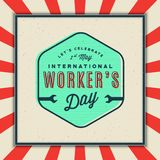 Labor day badge. international workers day vector Illustration. Labor day badge. international workers day greeting card. vector Illustration stock illustration