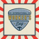 Labor day badge. international workers day vector Illustration. Labor day badge. international workers day greeting card. vector Illustration Stock Photo