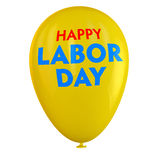 Labor Day Balloon. Labor Day yellow ballon isolated Royalty Free Stock Photos