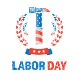 Labor day banner. With american flag wrench Stock Images