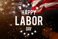 Labor Day Banner, Patriotic Background Stock Image