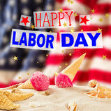 Labor day banner, patriotic background. Happy Labor day banner, american patriotic background Stock Photo