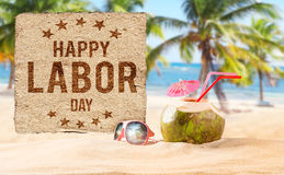 Labor day banner, patriotic background. Happy Labor day banner, american patriotic background Royalty Free Stock Photos