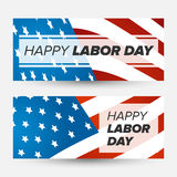 Labor day banner Stock Image