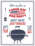 Labor Day barbecue party background. Royalty Free Stock Photos