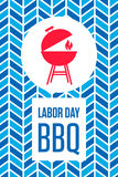 Labor Day Barbecue Poster Stock Images