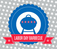 Labor Day Barbecue Poster Stock Photo