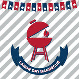 Labor Day Barbecue Poster Royalty Free Stock Image