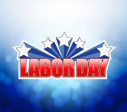 Labor day bokeh background sign Stock Photography