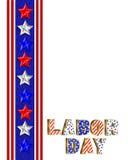 Labor Day Border illustration Royalty Free Stock Image
