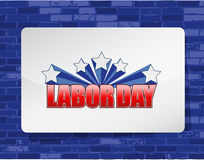 labor day brick wall background sign Royalty Free Stock Images