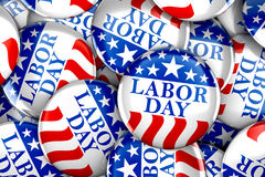 Labor day button background. 3d render Stock Image