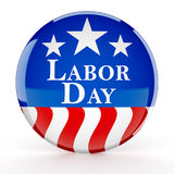 Labor day button. 3d render Stock Image