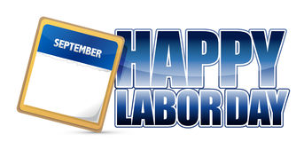 Labor day calendar Stock Photography
