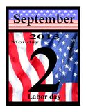 2013 Labor Day Calendar Icon Royalty Free Stock Photos
