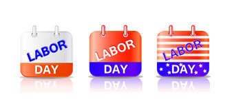 Labor day calendar page Royalty Free Stock Photography