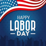 Labor Day Card Design, Vector Illustration. Royalty Free Stock Photography