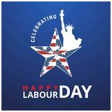 Labor day card design, vector illustration eps 10. For web design and application interface, also useful for infographics. Vector illustration Royalty Free Stock Images