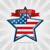 Labor day card design, vector illustration. Royalty Free Stock Images