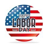 Labor day card design, vector illustration. Royalty Free Stock Photos