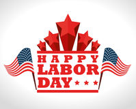 Labor day card design, vector illustration. Stock Photography