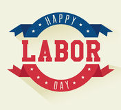 Labor day card design, vector illustration. Royalty Free Stock Image