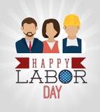 Labor day card design, vector illustration. Labor day card graphic   design, vector illustration Royalty Free Stock Image
