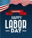 Labor day card design, vector illustration. Stock Photos