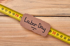 Labor Day card on wood. royalty free stock photo