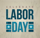 Labor day celebrate poster Royalty Free Stock Image