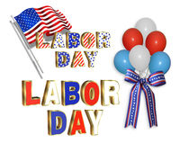 Labor Day clip art illustrations Royalty Free Stock Photos