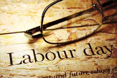 Labor day. CLose up of Labor day Stock Image