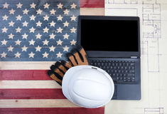 Labor Day concept with modern mobile technology Royalty Free Stock Photography