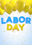 Labor Day. Design. Clipping path included Royalty Free Stock Photos