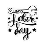 Labor day design. Happy Labor day inscription. Greeting card royalty free illustration