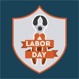Labor day design Royalty Free Stock Image