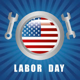 Labor day design. Royalty Free Stock Photo