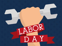 Labor day design. Stock Photos