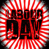 Labor Day emblem of grunge style. International Workers` Day log Stock Images