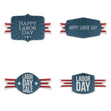 Labor Day festive paper Tags Collection Stock Images