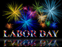 Labor day with fireworks. A beautiful illustration of labor day with fireworks Royalty Free Stock Photo