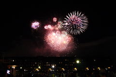 Labor Day Fireworks, Boston Royalty Free Stock Photo
