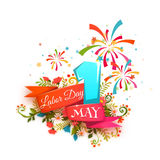 Labor Day. First may. Happy Holidays. Vector illustration Stock Image