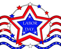 Labor Day Flag Sign Banner Royalty Free Stock Images